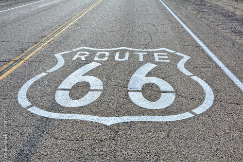 Aluminium Route 66 Route 66, painted sign