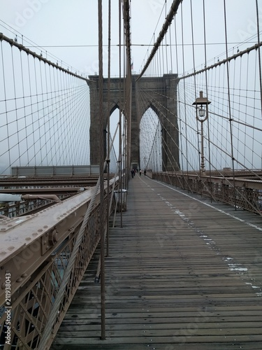 Foto Murales Brooklyn bridge - New York