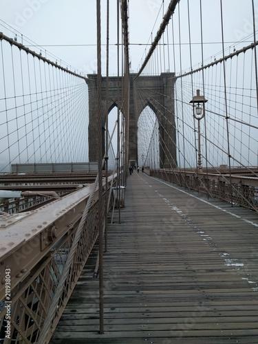 Foto Spatwand Brooklyn Bridge Brooklyn bridge - New York