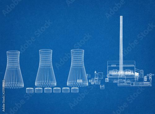 Nuclear Power Plant Architect Blueprint Buy Photos Ap Images