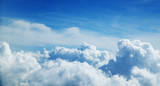 Above the clouds. Beautiful above sky panoramic view - 211942404