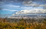 Provence, France, March 2018, The Sainte Victoire mountain seeing from the Regagnas Mountain