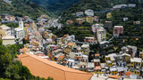 Panoramic view of the riomaggiore, one of the villages of Cinque Terre in Italy - 211948445