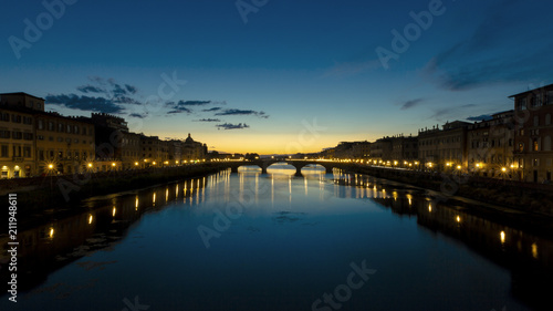 Fotobehang Florence Sunset over Arno