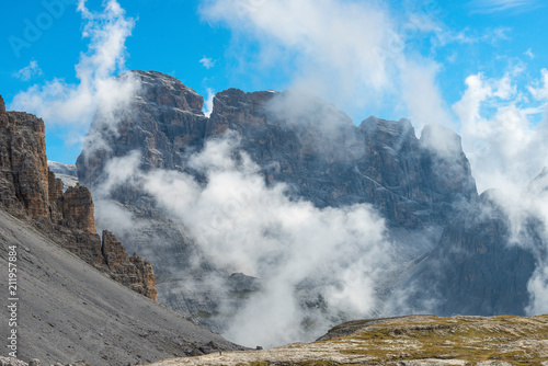 Rocks above the clouds, Dolomites, Italy
