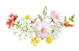 Watercolor floral composition - 211958035