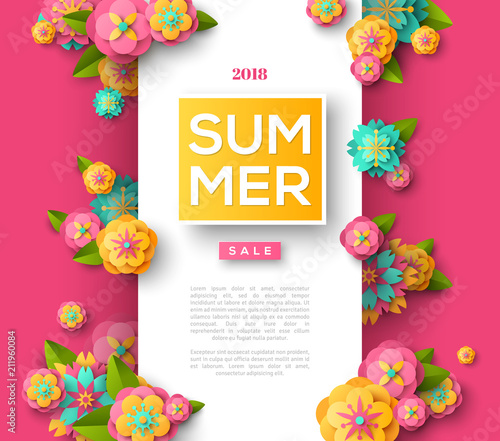 Summer sale flyer template - 211960084