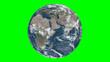 Leinwandbild Motiv Earth from space in green screen