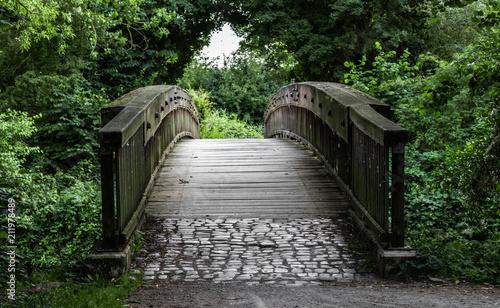 Aluminium Bruggen Holzbrücke in der Natur
