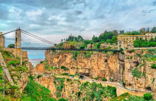 Sidi M'Cid Bridge across the Rhummel River in Constantine, Algeria
