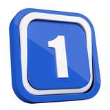 ikona plastikowa 3D niebieski kwadrat pierścień - 211986655