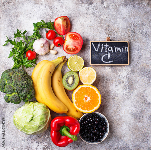 Food containing vitamin C. Healthy eating - 211987618