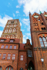 St Nicolas Church and historic city hall in Stralsund, Germany
