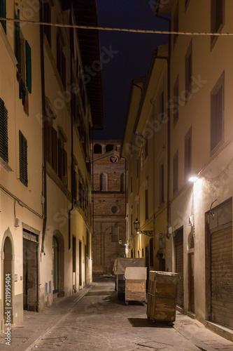 Fototapeta Florence street at night