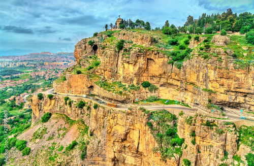 The Rhummel River Canyon in Constantine. Algeria