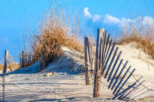 Fence in Dunes - 211999093