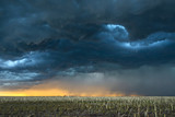 Storm over field in Oklahoma - 211999833
