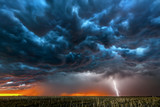 Lightning storm over field in Roswell New Mexico. - 212000291