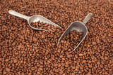brown coffee seed beans  - 212012421