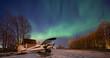 Aurora over Lake Hood Alaska