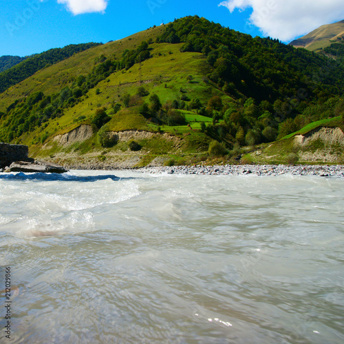 Aluminium Bergrivier mountain river landscape