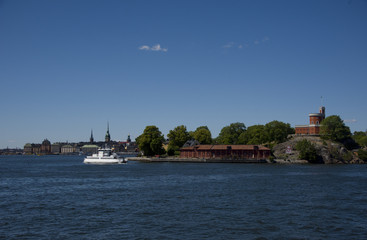 Castle and landmarks at Stockholm waterfront a summer day  © Hans Baath
