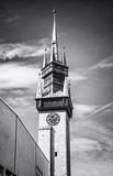 Late gothic Town hall tower, Znojmo, Czech, colorless