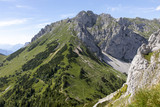 view to summit griesmauer on the mountain range hochschwab, styria,austria, - 212039455