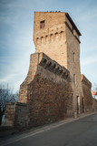 Fermo, old fortress wall and tower, Italy - 212041001