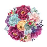 Watercolor floral composition - 212041460