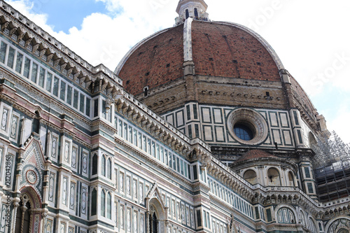 Fotobehang Florence Exterior of Florence Cathedral in Italy. Concept of religion architecure and landmarks of Europe.