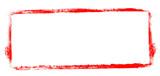 Unordentlicher gemalter Rahmen rot - 212045655
