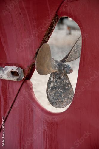 Fotobehang Schip hélice de bateau