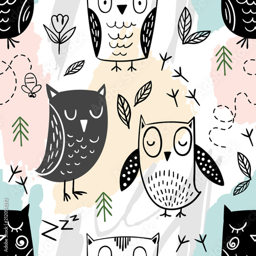 cute-vector-seamless-pattern-with-owls