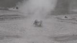 Bubbling geothermal mud pool slow motion - 212056494