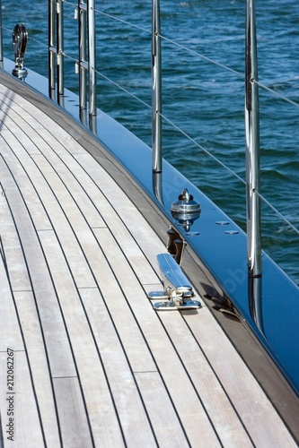 Plexiglas Pier Sailing. Sailingship. Superyacht at sea. Arial,