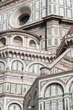 beautiful details of florence cathedral in a sunny day - 212067657