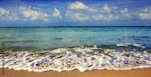 Fotobehang Tropical strand Caribbean sea background.