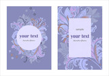 design invitation template with decorative flowers - 212080618