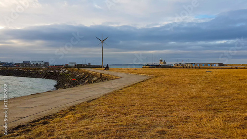 Fotobehang Noordzee Amazing walks in the bay of Howth - a small village near Dublin