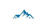 mountain house vector logo - 212088855