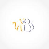 cat dog icon vector - 212101245