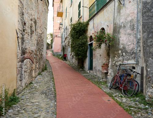 Fotobehang Smalle straatjes Alte Gassen in Italien