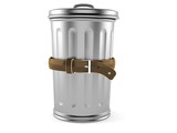 Trash can with tight belt - 212109246