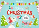 Merry Christmas Greeting Card - 212114272
