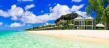 Luxury vacation in tropical resort. Mauritius island. Beachfront villa - 212116052