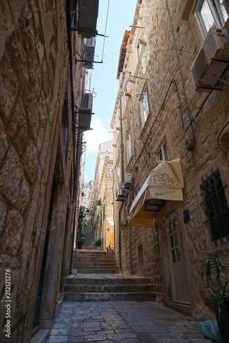 Fotobehang Smalle straatjes Gassen in Dubrovnik - Kroatien