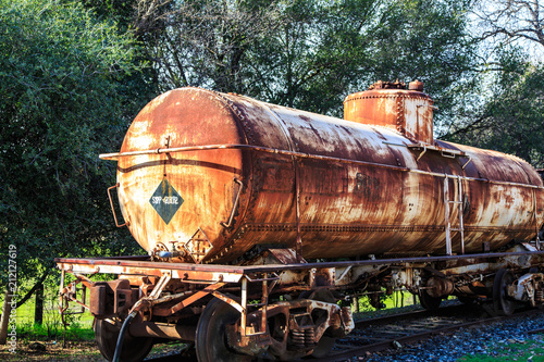 Rusted train tanker