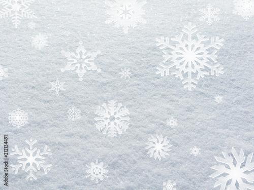 Fine snow background white stillness, winter in Sweden. - 212134491