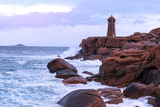 typical Brittany coast in the north of France - 212136206